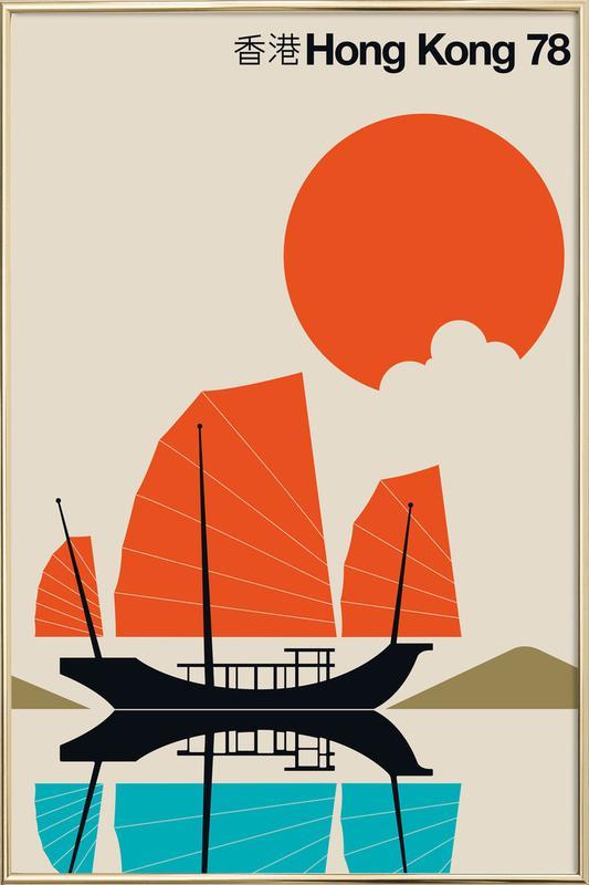 Hong Kong 78 -Poster im Alurahmen