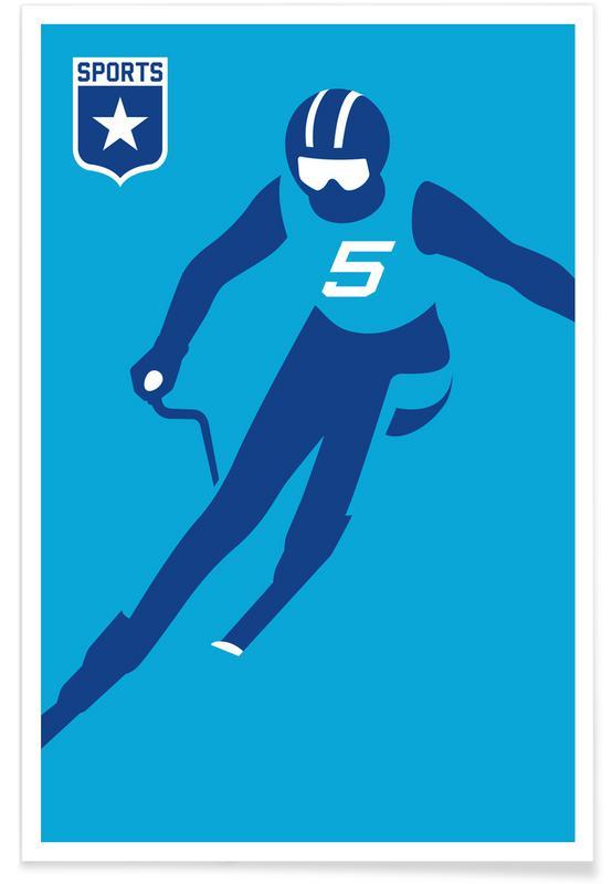 Slalom Premium Poster