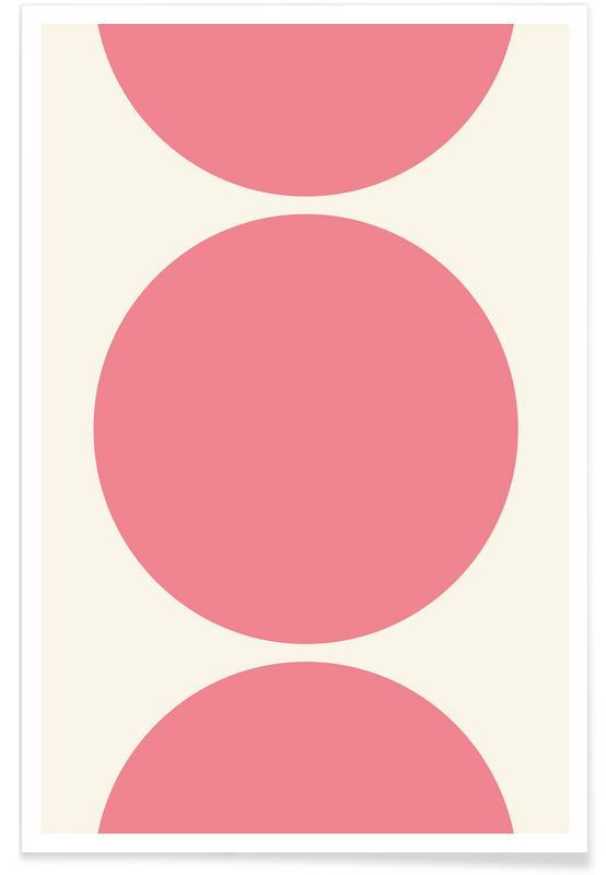 Cercles de lune roses affiche