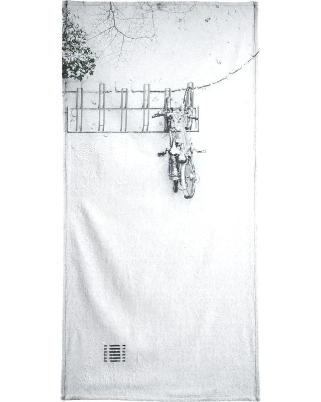Winter White Bikes Beach Towel
