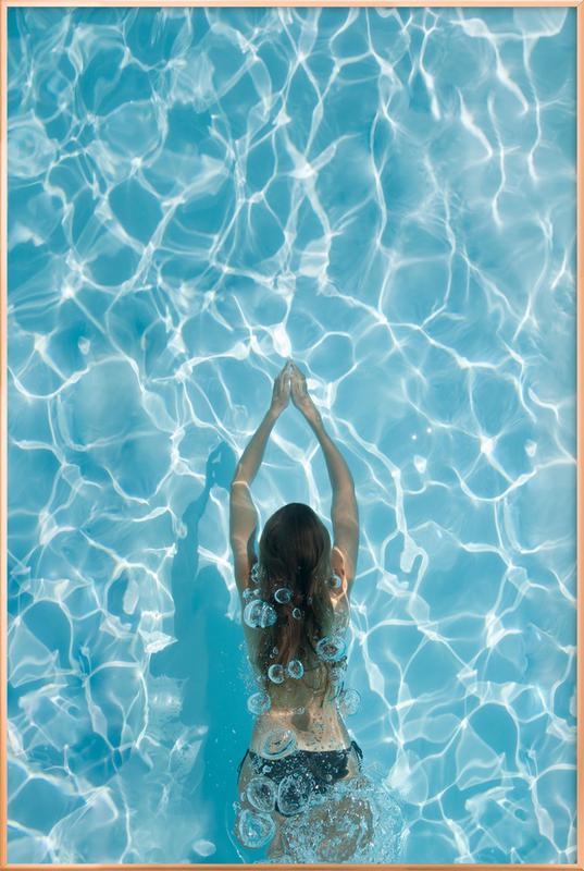 Liquid LOVE Poster in Aluminium Frame