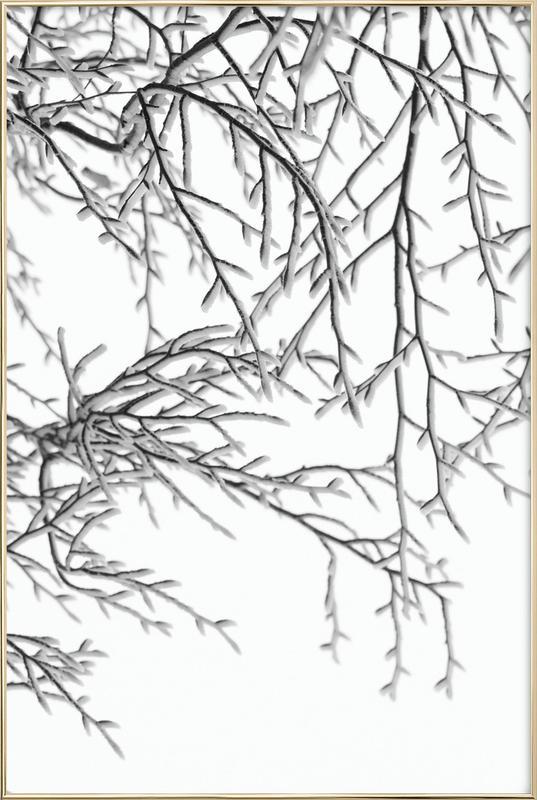 Snowy Days affiche sous cadre en aluminium