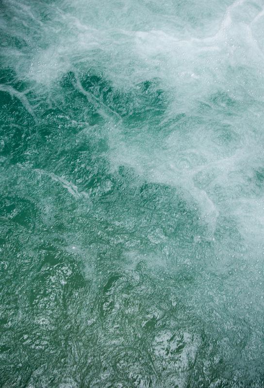 Glacier Water Aluminium Print