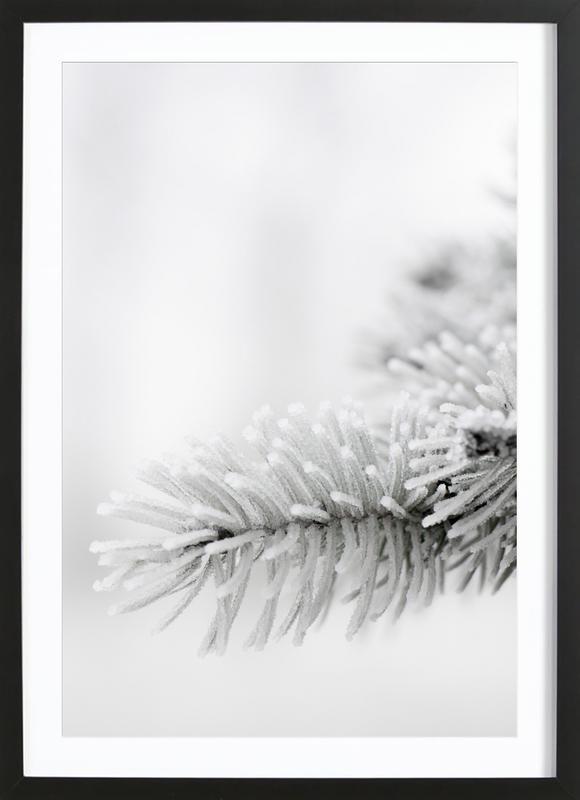White -Bild mit Holzrahmen