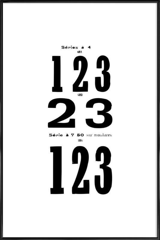 123 ingelijste poster