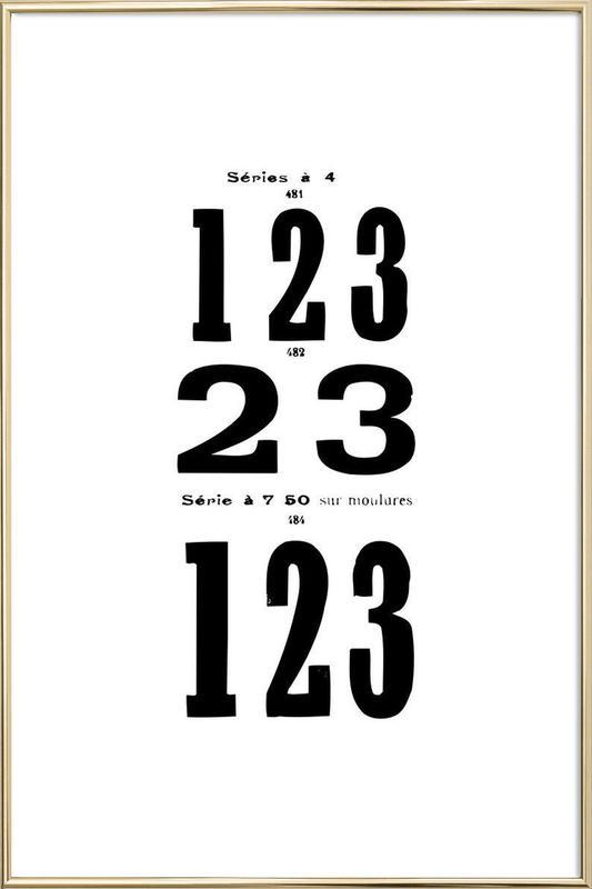 123 poster in aluminium lijst