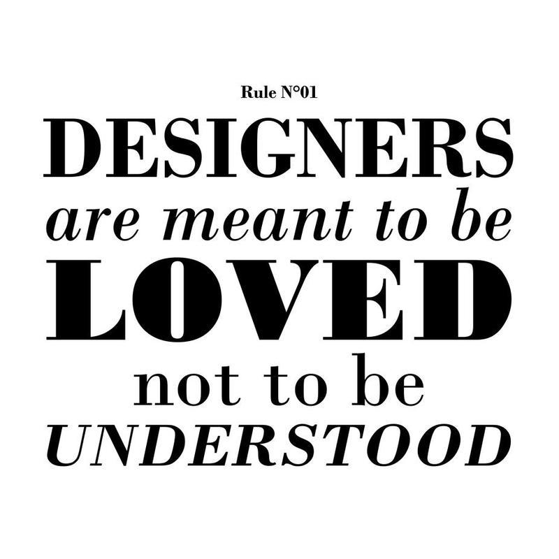 Rule 01 - Designer are meant.. alu dibond