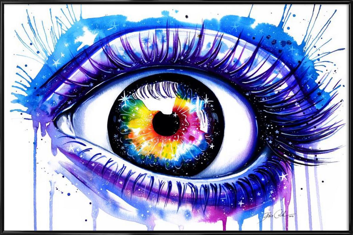 Galaxy Eye affiche encadrée