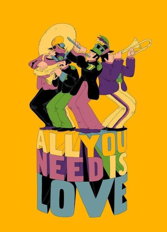 All You Need Is Love Leinwandbild | Dekoration > Bilder und Rahmen > Bilder