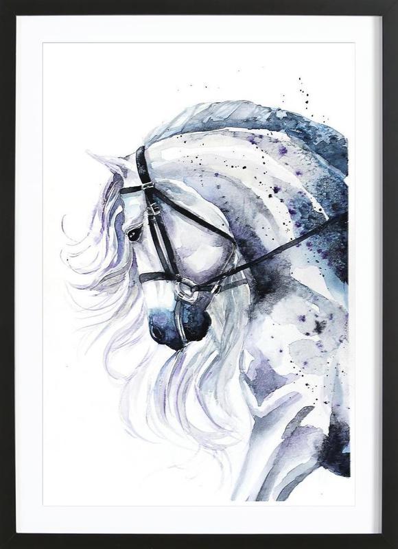 Horse portrait ingelijste print