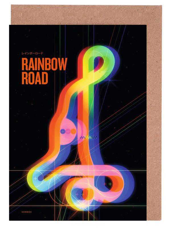 Rainbow Road Grußkartenset