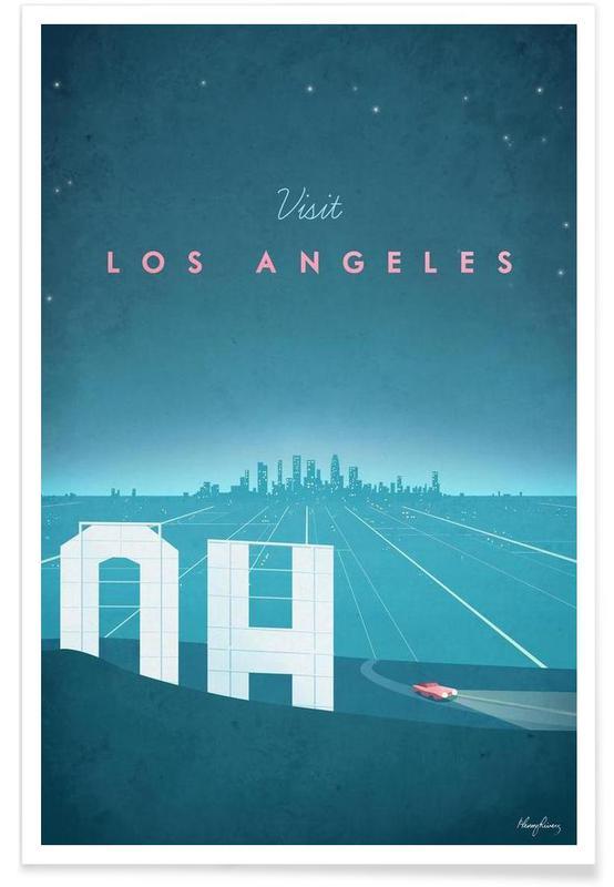 Vintage Los Angeles Travel Poster