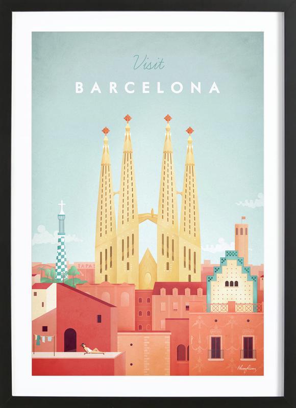Barcelona Poster i träram