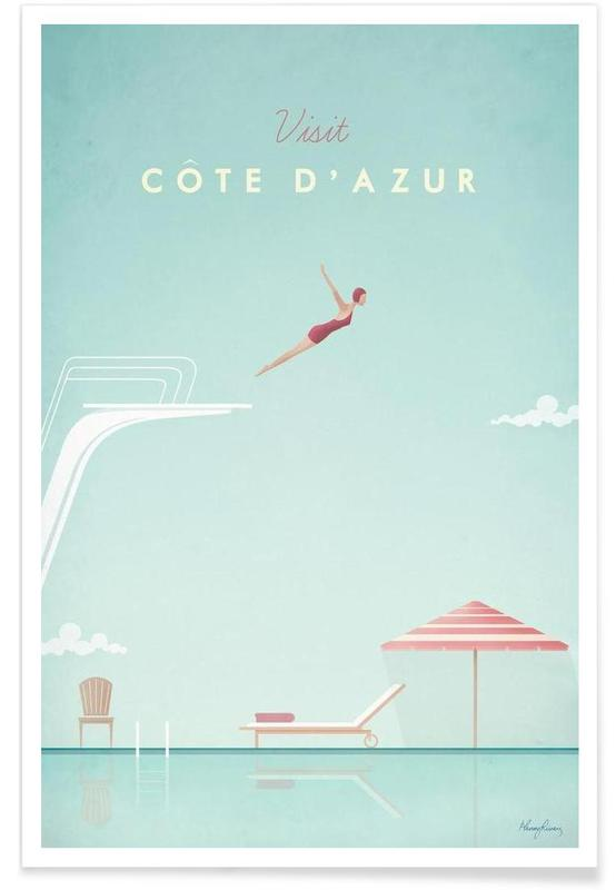 Vintage Côte d'Azur Travel Poster