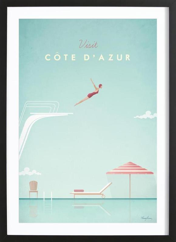 Côte d'Azur poster con marco