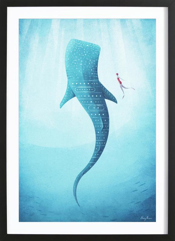 Whale Shark -Bild mit Holzrahmen