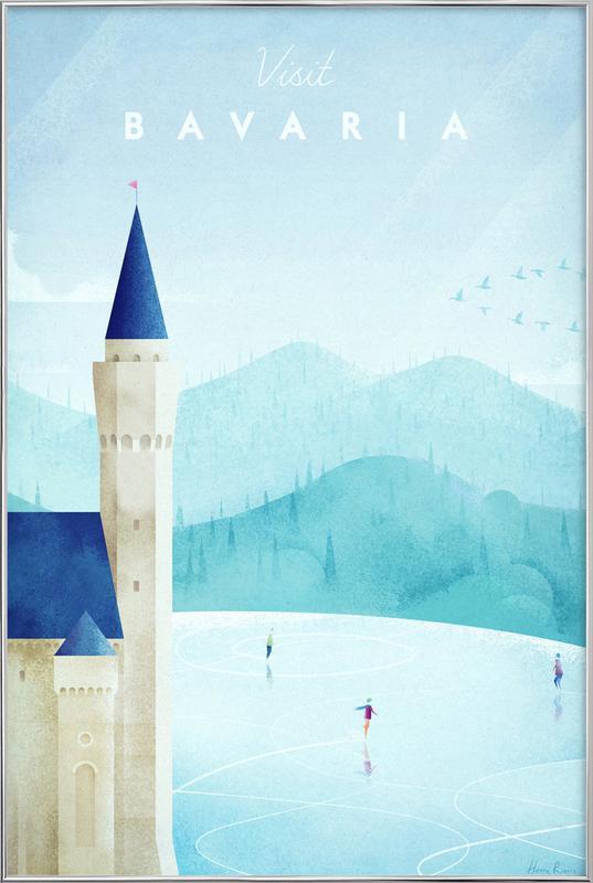 Bavaria -Poster im Alurahmen