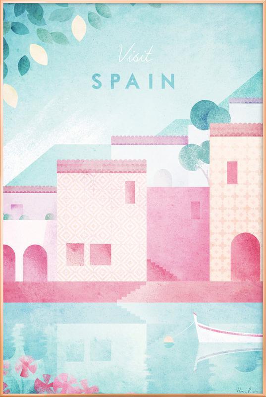 Spain Poster in Aluminium Frame