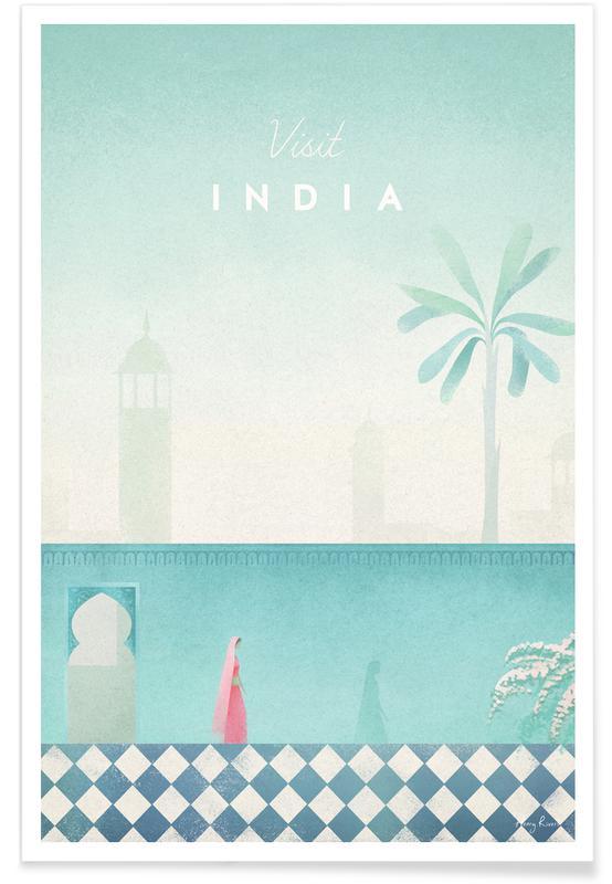 Vintage-Indien-Reise -Poster