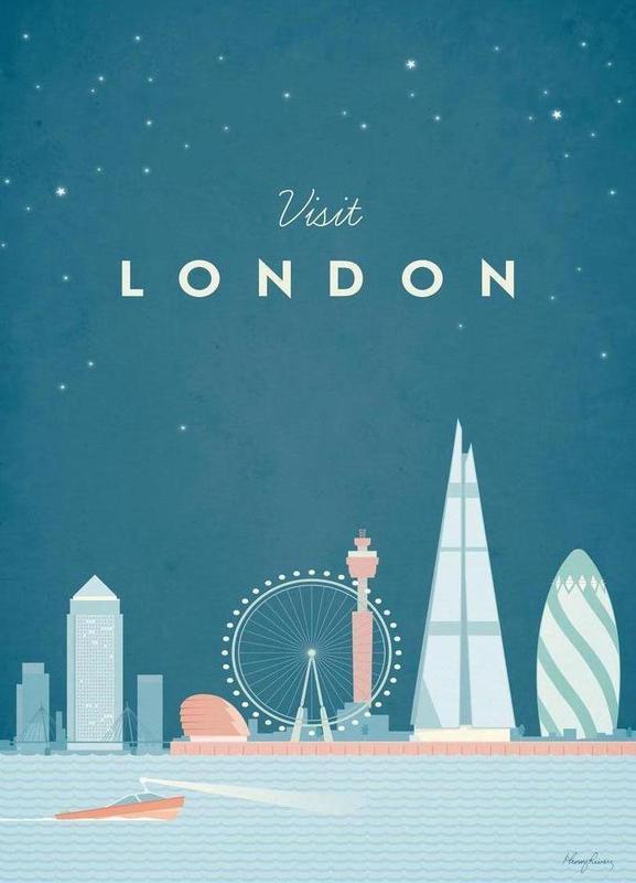 London Leinwandbild | Dekoration > Bilder und Rahmen > Bilder | Mehrfarbig | Holz