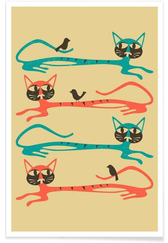 Birds on a cat -Poster