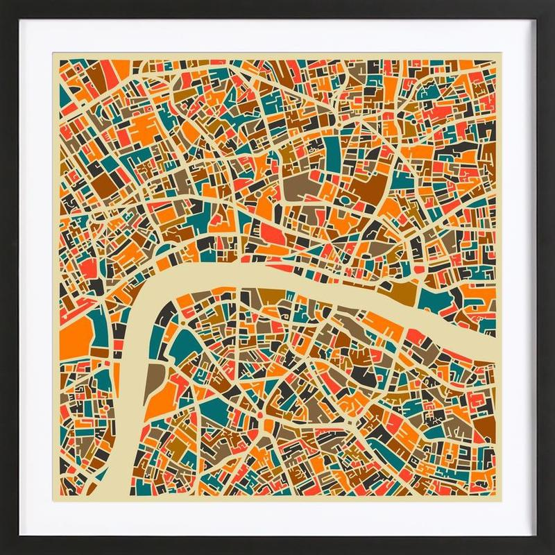 London -Bild mit Holzrahmen