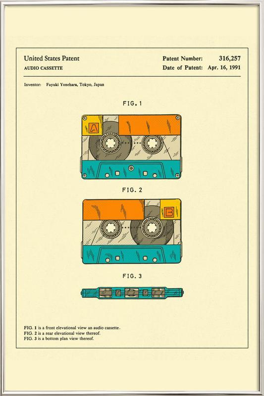 Cassette Poster in Aluminium Frame