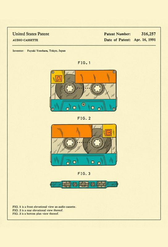 Cassette Aluminium Print