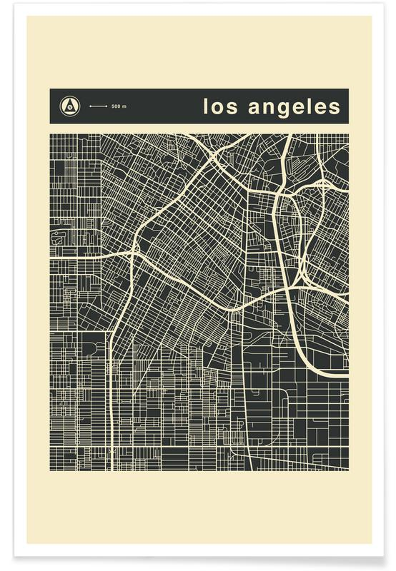 City City Maps Series 3s Series 3 -  Los Angeles Poster