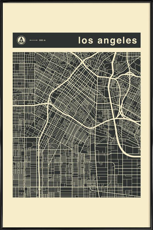 City City Maps Series 3s Series 3 -  Los Angeles Framed Poster