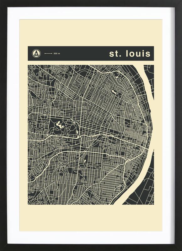 City Maps Series 3 - St. Louis Framed Print