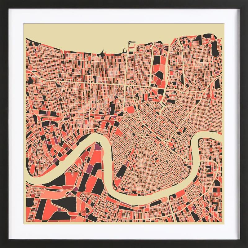 New Orleans -Bild mit Holzrahmen