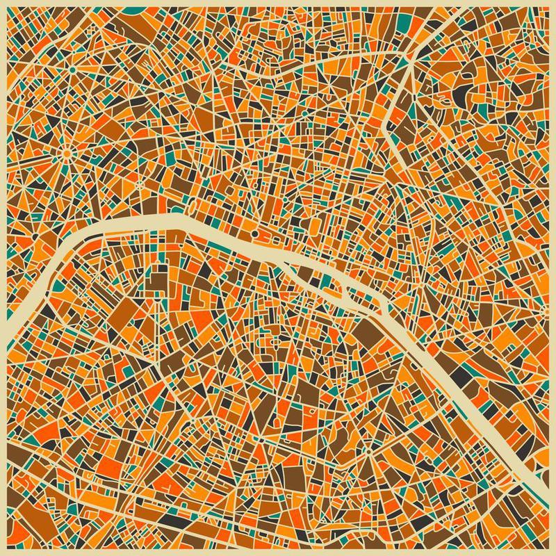 Paris Acrylglasbild | Dekoration > Bilder und Rahmen > Bilder | Mehrfarbig | Aluminium