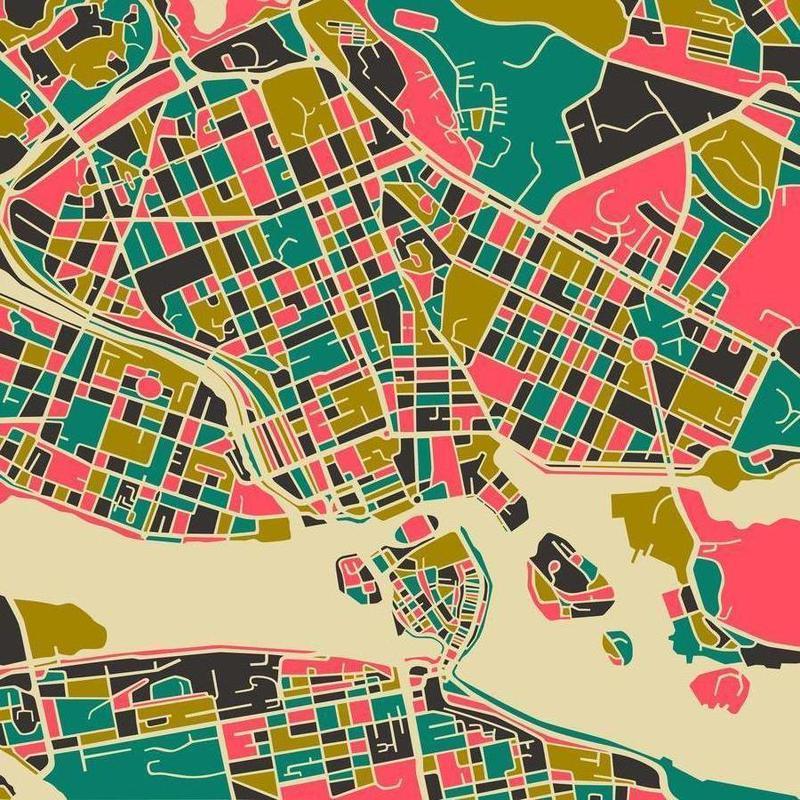 Stockholm -Leinwandbild
