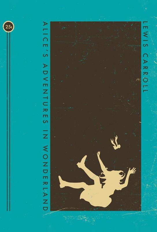 Alice Book Cover Acrylglasbild