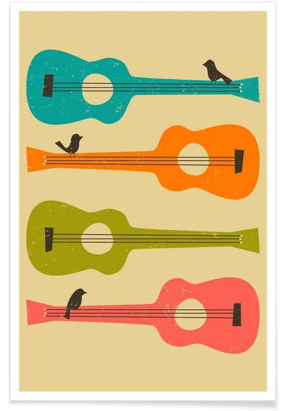 Birds on a Guitar -Poster