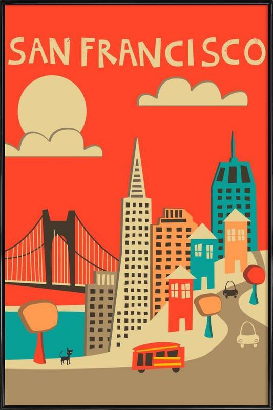 San Francisco -Bild mit Kunststoffrahmen