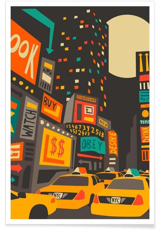 Time Square - Night Poster