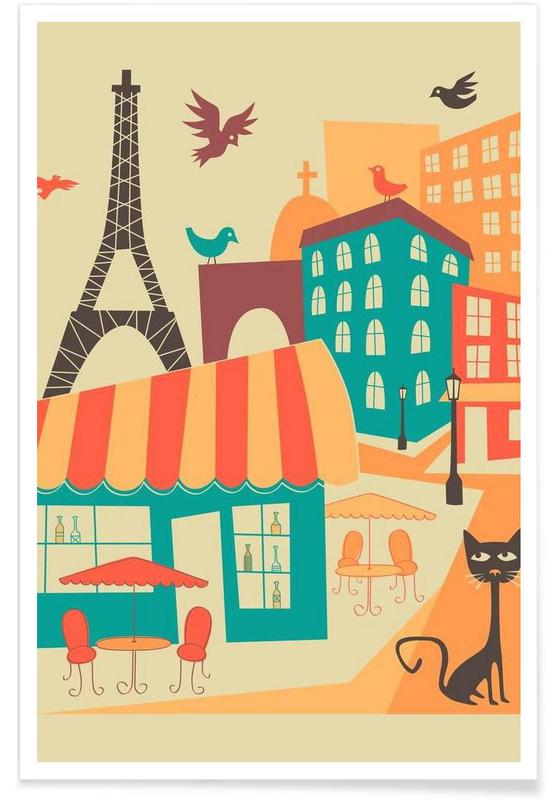 Paris Skyline Poster