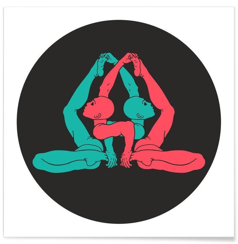 Patanjali Yoga Gherandasana poster