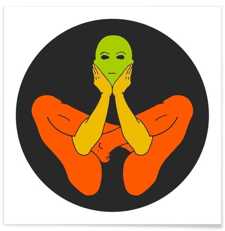 Patanjali Yoga Garbhasana -Poster