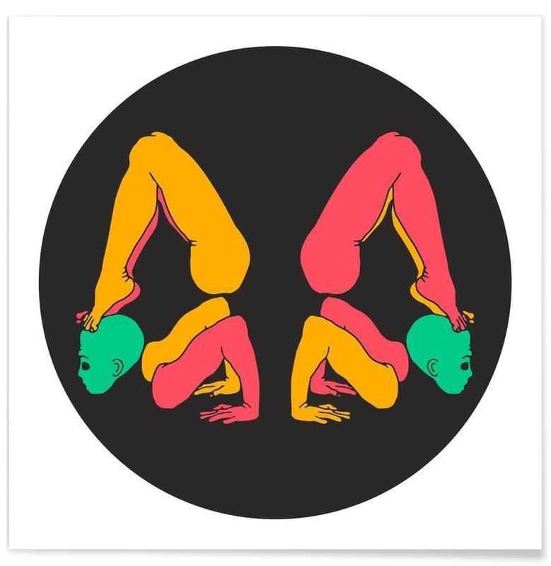 Patanjali Yoga Chakrasana Poster