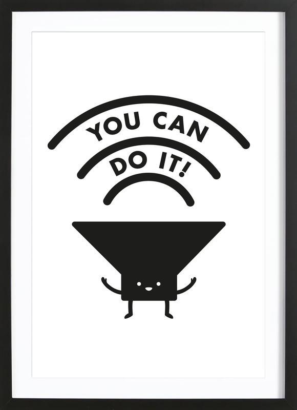 You Can Do It ingelijste print
