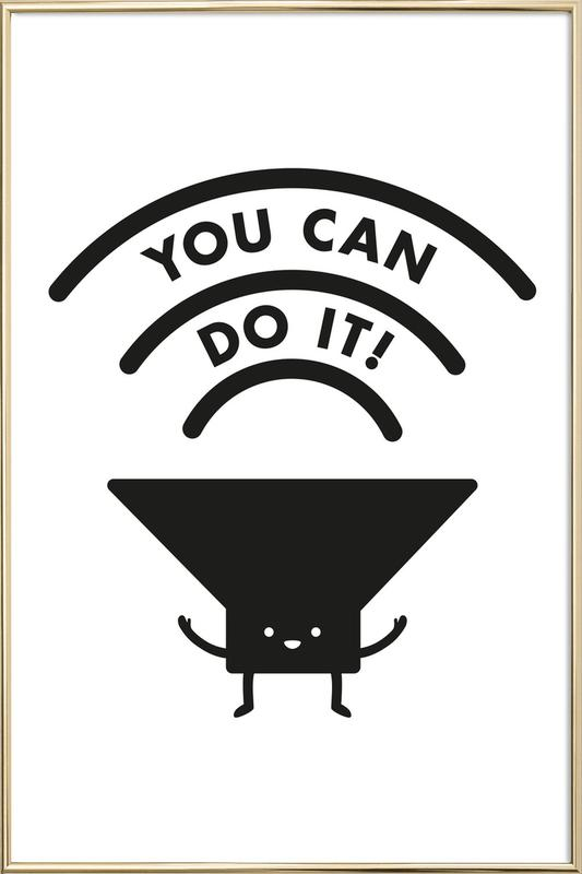 You Can Do It poster in aluminium lijst