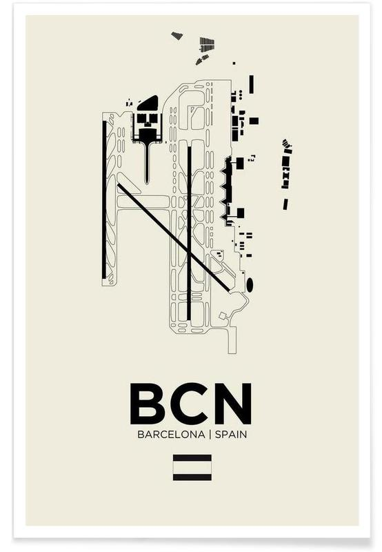 BCN Airport Barcelona Poster