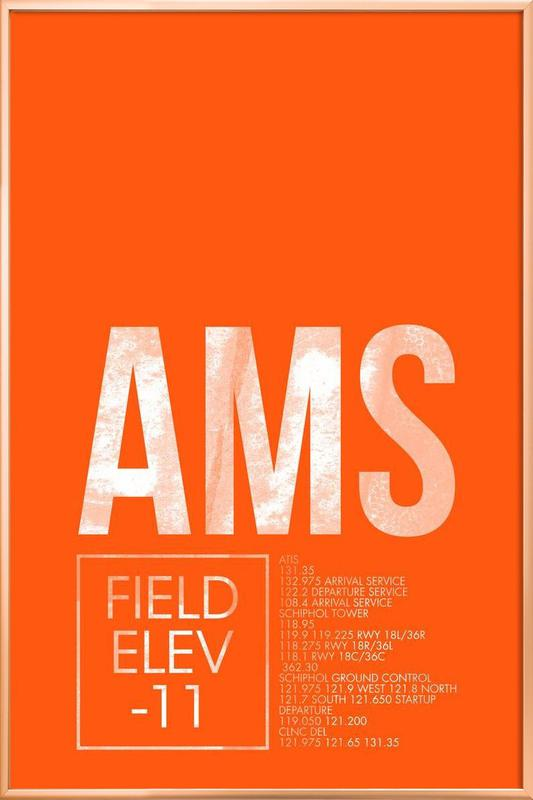 AMS Amsterdam -Poster im Alurahmen