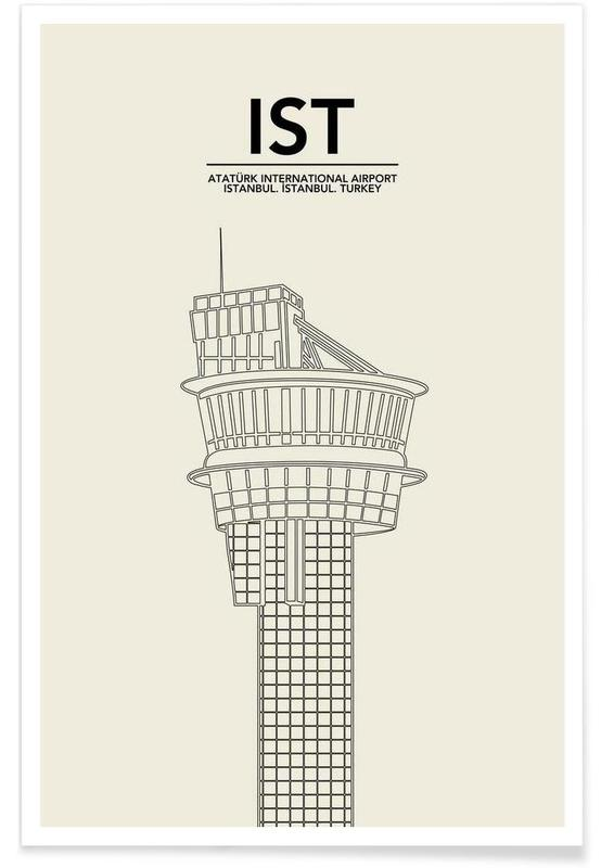 IST Istanbul Tower Poster