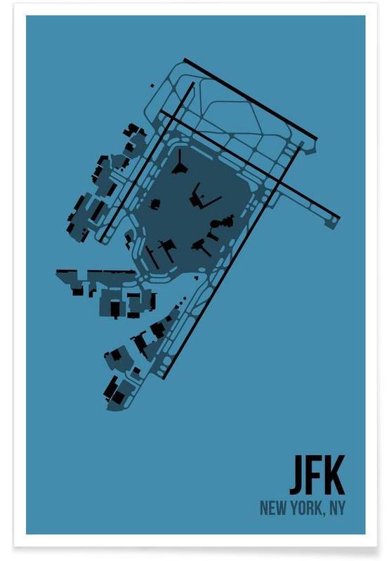 JFK Airport New York Poster