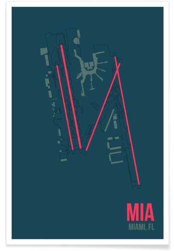 MIA Airport Miami Poster