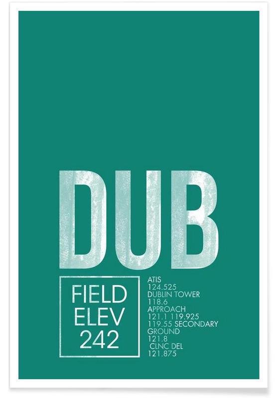 DUB Dublin Luggage Tag Poster